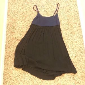 Black and Navy Open Back Dress